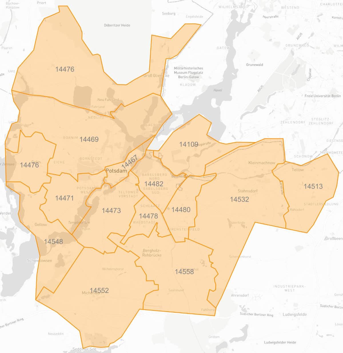 Karte der STEP Liefergebiete